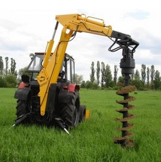 • самодельный ручной бур для земляных работ